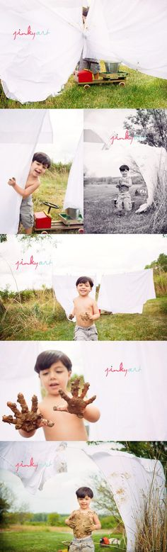 and mud, what a fun session! Photography Props, Children Photography, Family Photography, Lifestyle Photography, Boy Photo Shoot, Kid Poses, Children Images, Boy Photos, Photo Series