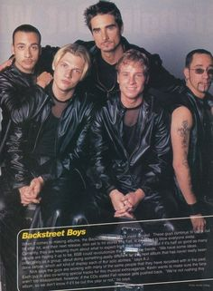 And, yes, mesh T-shirts and leather are very macho. | 15 Important Style Lessons The Backstreet Boys Taught Us