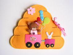 Mumba maci mézkuckója- játszókönyvecske, Baba-mama-gyerek, Játék, Baba, babaház, Készségfejlesztő játék, Meska