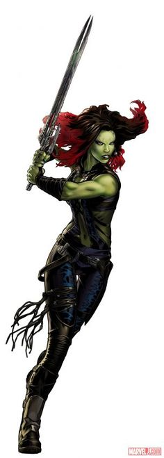 Marvel: Avengers Alliance: Gamora from the Guardians of the Galaxy New Uniform --> Sexy and incredibly badass. Can't wait to try this out for FanExpo ; Comic Movies, Comic Book Characters, Marvel Characters, Comic Character, Female Characters, Marvel Comics Art, Marvel Vs, Marvel Heroes, Gamora Marvel