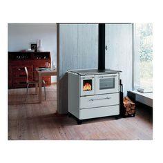 Stufe, climatizzatori e idraulica-Cucina a legna Betty 35 bianco-35635005