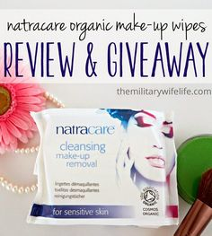 Natracare Make-up Wipes // Review & Giveaway | www.themilitarywifelife.com