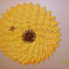 Flowers, Medallions, Sunbursts Decor Made From Old Business Cards!