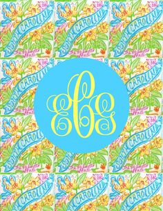 Lilly Pulitzer Binder Cover