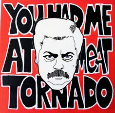Ron Swanson - Meat Tornado Painting