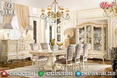 Davinci Style Meja Makan Ukiran Jepara Mewah New Product Luxury Furniture Jepara TTJ-0970