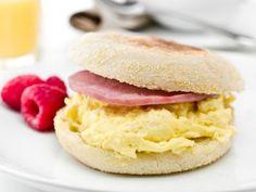 Quick breakfast sandwich - in the microwave!