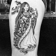 Kitsune by @ankalavrivtattoo. #kitsune #kitsunetattoo #mask #kimono #japanese #tattoo #illustrated #illustration #stipple #stippled #stipple #geometry #geometric #etch #etching #etchedtattoo #blackwork #brooklyn #vegan #vegantattoo #veganink #williamsburg #bushwick #nyc #gristletattoo #ankatattoo