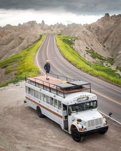 situation gets more dire. School Bus Tiny House, Old School Bus, Converted School Bus, Bus Life, Camper Life, Camper Van, Bus Remodel, Rv Bus, Bus Living