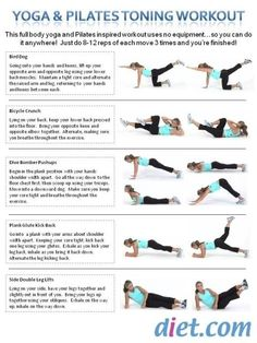 Yoga  Pilates Toning Workout exercises