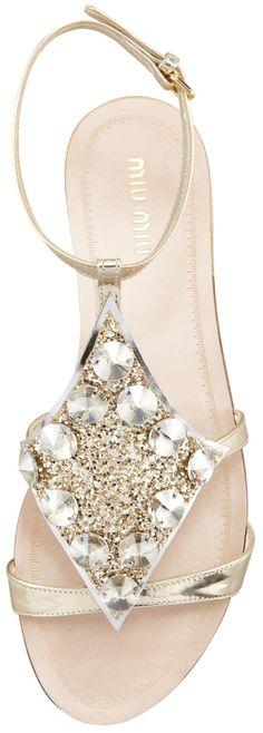Miu Miu Embellished Sandals – Alyssa Milano