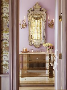 pretty bath, venetian mirror