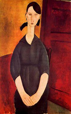 Amedeo Modigliani, Portrait of Paulette Jourdain, 1919 / Ten Pages (or More): 7. Modigliani: A Life, by Meryle Secrest, pp. 251-309