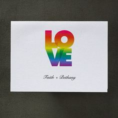Love's Rainbow Note Card with Verse and Envelope