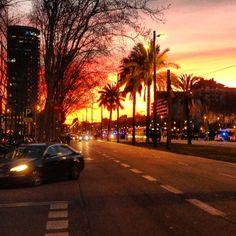 Sunset @ La Diagonal, Barcelona (Spain)