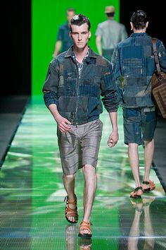 Louis Vuitton Spring Summer 2013 Men's Collection, Catwalk, Spring Summer, Louis Vuitton, Mens Fashion, Purses, Denim, Chic, Bags