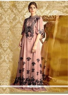 Riveting Embroidered Work Bamber Georgette Designer Suit Model  YOS3674