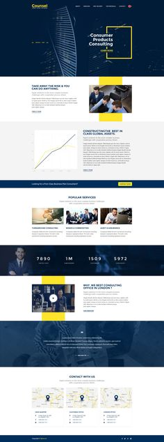 Counsel is a clean looking PSD template, designed for companies that provide business and investment advice. It can be customized easily to suit your wishes.
