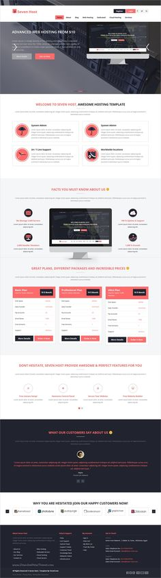 Seven Host is a clean , modern and creative 7in1 responsive #WordPress Theme for your #Webdev #Hosting Business, creative agency, Technology Websites download now➩ https://themeforest.net/item/seven-host-hosting-wordpress-template/17141084?ref=Datasata