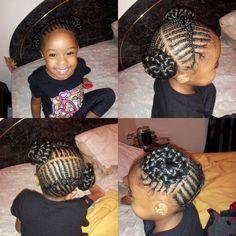 cornrows into braided buns