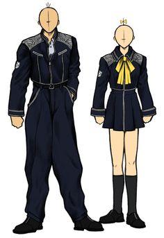 Week 8 - Final Fantasy VIII - Concept Art Mon - SeeD Uniform