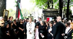 Farah Pahlavi with friends and supporters of royal family gathered in Paris at the Passy Cemetery in memory of the late Princess Leila (March 27th 1970-June 10th 2001) on the 6th anniversary of her demise