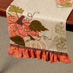 Pumpkin Harvest Table Runner Multi Warm 13 X 72