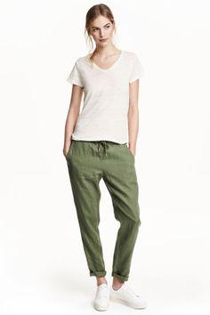 Pantaloni din in   H&M