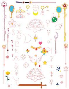 Sailormoon Objects and symbols by KinnoHitsuji.deviantart.com on @deviantART