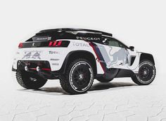 The new Peugeot 3008 DKR race car, is based on an entirely new model of Peugeot SUV, to be revealed at the Paris Motor Show next month. Team Peugeot Total and… Peugeot 3008, Sport Cars, Race Cars, 308 Gti, Rallye Raid, Psa Peugeot, Automobile, Pajero Sport, Offroader