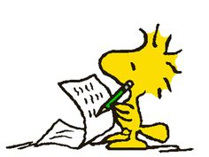 This would be fun art to have in my future home in the office.Woodstock writing a note/letter. Peanuts Christmas, Charlie Brown Christmas, Charlie Brown And Snoopy, Woodstock Peanuts, Peanuts Snoopy, Woodstock Bird, Peanuts Characters, Cartoon Characters, Thanksgiving Cartoon