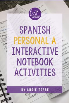 "#SpanishPersonalA Interactive Notebook Activities by Angie Torre includes: INB Foldable with 4 Activities; students write, ""a, al"" or, ""X"" (for NO personal ""a""; students answer questions, ""¿Quién….?/¿A quién…?/ ¿A quién le?""; which, given the answer, students write the logical question; student handout; PowerPoint Instructions; PPT answers! Reading Task Cards, Guided Reading, Close Reading, Spanish Interactive Notebook, Interactive Notebooks, Spanish Lessons, Learning Spanish, First Grade Sight Words, Teacher Binder"