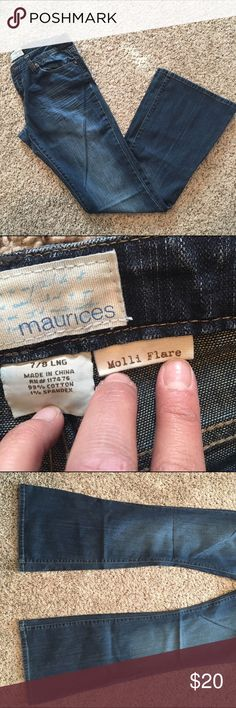 Maurices 7/8 Long molli flare Great condition! Ships fast smoke free home! Maurices Jeans Flare & Wide Leg