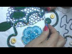Урок вязания СЕТОЧКИ в ирландском кружеве.Lesson crochet mesh in Irish lace. - YouTube
