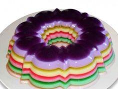 Receita Gelatina Diet Colorida Em Camadas