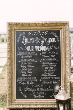chalkboard ceremony sign | Mint Photography
