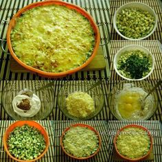 Кабачки, запеченные с сыром - объедение    На 100 гр - 53 ккал  белки - 3  жиры - 3  углеводы - 4   Ингредиенты:  кабачки - 1500 г пучок зелени (укроп/петрушка) йогурт греческий - 100 г (4 ст. л.) яйца - 2 шт горчица - 1 ст. л. сыр - 100 г соль, специи по вкусу