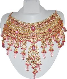 Bollywood Style Indian Imitation Necklace Set / AZBWBR002-LPK Arras Creations http://www.amazon.com/dp/B00IH6IGM8/ref=cm_sw_r_pi_dp_WJARub08YQ0HE
