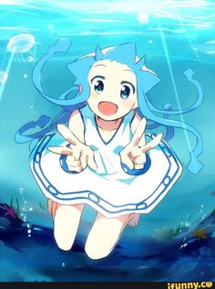 SquidGirl Manga Art, Anime Art, Ika Musume, Squid Girl, My Childhood Friend, Anime Kunst, Best Friends Forever, Hatsune Miku, Godzilla