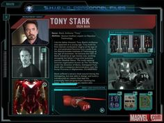 SHIELD Personnel Files - Tony Stark/Iron Man