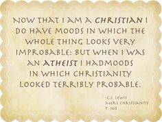 Click. Pray. Love: 31 Days of C.S. Lewis Quotes: Day 2, Atheist to Christian