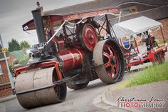 Unusual Wedding Transport Steam Roller.
