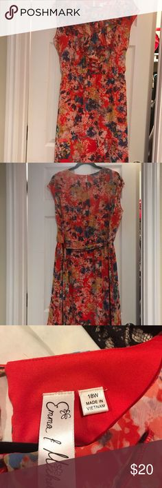 Shop Women's Emma & Michelle Red Blue size Dresses at a discounted price at Poshmark. Plus Fashion, Fashion Tips, Fashion Trends, Red Flowers, Red And Blue, Party Dress, Summer Dresses, Spring, Closet