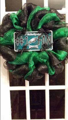 Philadelphia Eagles Wreath, NFL, Poly Mesh Wreath, Eagles
