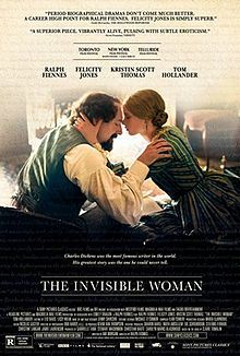 Directed by Ralph Fiennes. With Ralph Fiennes, Felicity Jones, Kristin Scott Thomas, Tom Hollander. At the height of his career, Charles Dickens (Ralph Fiennes) meets a younger woman who becomes his secret lover until his death.
