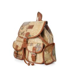 Map Print Backpack