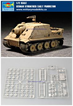 German Sturmtiger Early Production Trumpeter 07274