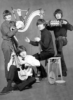 The Beatles, not with their usual instruments. Something like this would be fun to play along with