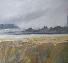 Towards the Minch 70x70 Pastel by Norma Stephenson