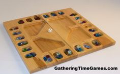 4-Player Mancala Patented rules for 23 or 4 players 16 x 16.5 x .75 #boardgame #tabletop #mancala